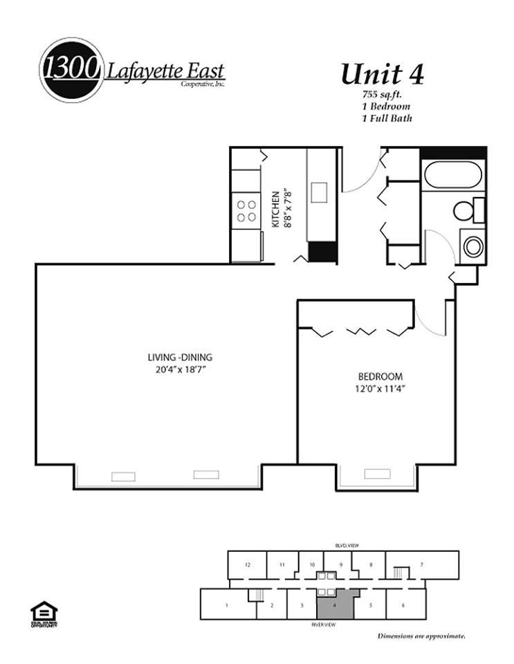 Floor Plans 1300 Lafayette East Cooperative